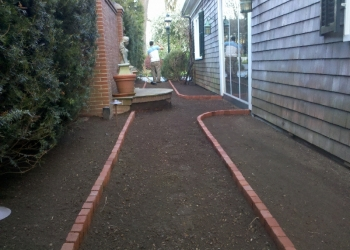 Walkway makeover bricks