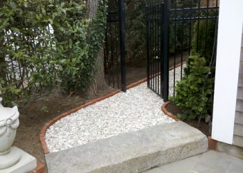 Walkway makeover - Curves to step