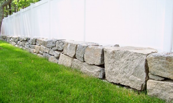 Low Property Line Stone Wall