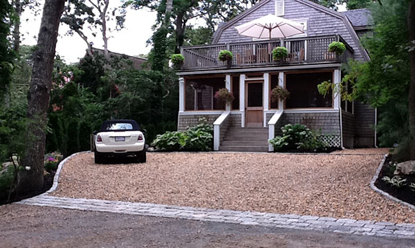 Wide Gravel Driveway